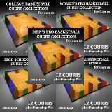 3D Model - Basketball Court Collection