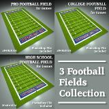 3D Model - Football Field Collection