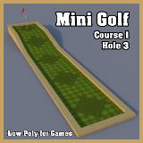 3D Model - Mini Golf Course 1 Hole 3
