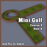 3D Model - Mini Golf Course 2 Hole 8