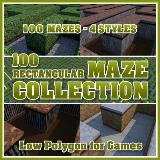 3D Model - 100 Rectangular Maze Collection