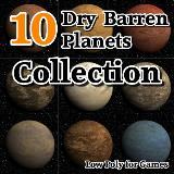 3D Model - 10 Dry Barren Planets Collection