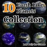 3D Model - 10 Earth Like Planets Collection