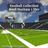 3D Model - Football Collection Bowl Stadium 1 Tier