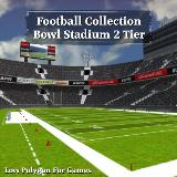 3D Model - Football Collection Bowl Stadium 2 Tier