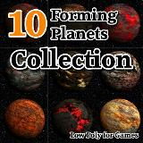 3D Model - 10 Forming Planets Collection