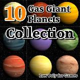 3D Model - 10 Gas Giant Planets Collection