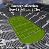 3D Model - Soccer Collection Bowl Stadium 1 Tier