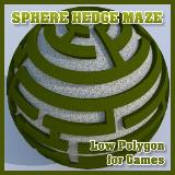 3D Model - Sphere Hedge Maze