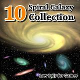 3D Model - 10 Spiral Galaxy Collection