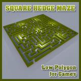 3D Model - Square Hedge Maze