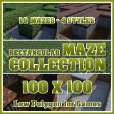 3D Model - 100x100 Rectangular Maze Collection
