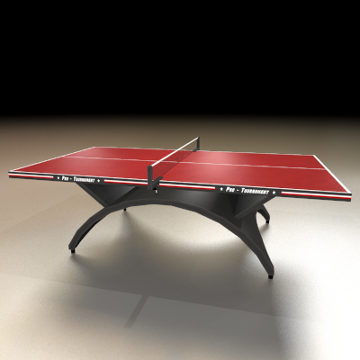 Ping Pong Table Red 3d Ping Pong Table Model Ping Pong Table