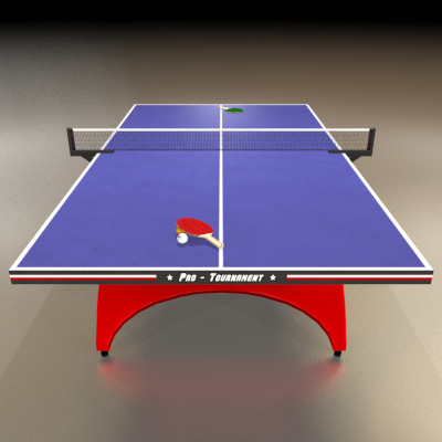 Table Tennis 3d Model Ping Pong Models Ping Pong Table Model