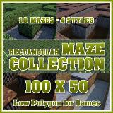 3D Model - 100x50 Rectangular Maze Collection