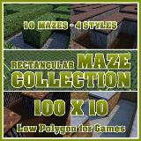 3D Model - 100x10 Rectangular Maze Collection