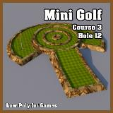 3D Model - Mini Golf Course 3 Hole 12
