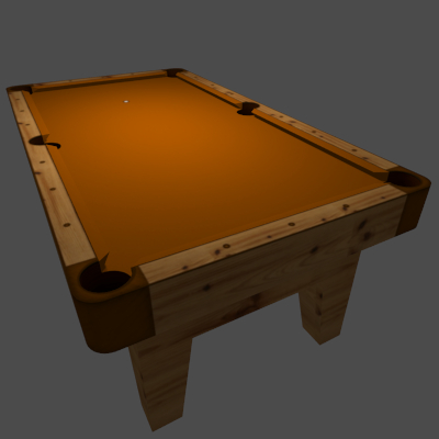 Tronitec Game Studios Billiards Table Orange 3d