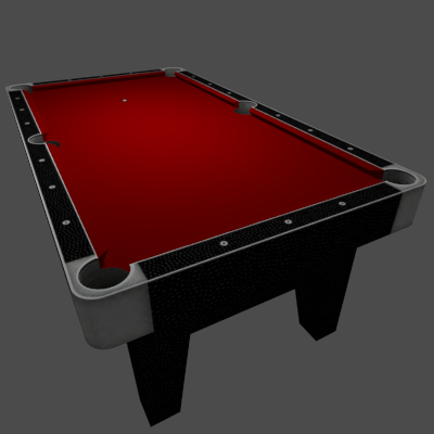 Tronitec Game Studios Billiards Table Red 3d Billiard