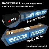 3D Model - Basketball Scorer Media Tables with Possesion Box