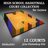 3D Model - High School Basketball Court