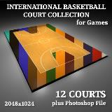 3D Model - International Basketball Court